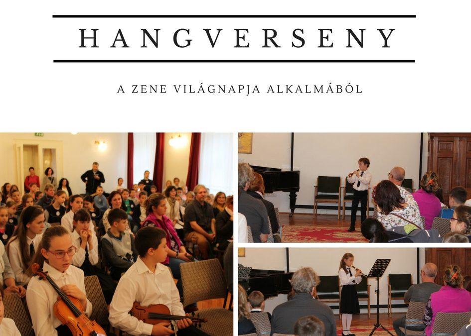 Zeneiskolánk hangversenye a Zene Világnapja alkalmából