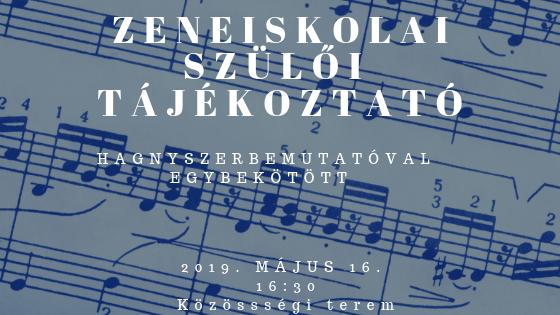 Tájékoztató a zeneiskolai beiratkozásról